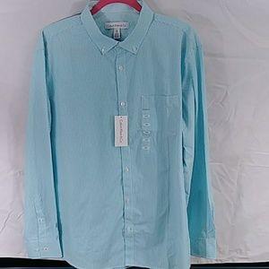Calvin Klein & Co. Blue & White Shirt Sz L